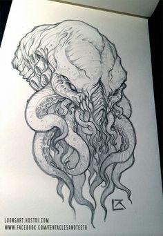 Cthulhu sketch - tentaclesandteeth