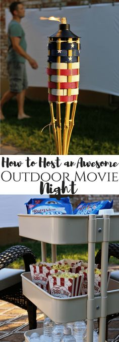 How to Host an Awesome Outdoor Movie Night with @oreo available @krogerco   #EnterTheWonderVault ,#CollectiveBias , AD , outdoor movie night, family night