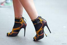 Tabitha Simmons shoes - Street Style: London Fashion Week Fall 2013 - - Vogue