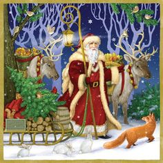 Father Christmas Jumbo Advent Calendar | Jumbo Fun & Whimsical | Vermont Christmas Co. VT Holiday Gift Shop