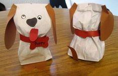 paper bag dog craft | Crafts and Worksheets for Preschool,Toddler and Kindergarten