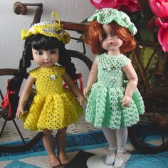 Crochet pattern for 10 inch dolls-lacy dress by pixiediva on Etsy