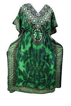Women's Kaftan Dresses Green Caftan Cover up Dashiki Beac... https://www.amazon.com/dp/B01NCPWU14/ref=cm_sw_r_pi_dp_x_quXzybH7MTY9P