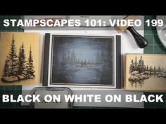 Stampscapes 101: Video 199.  Black on White on Black