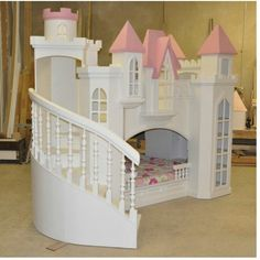 the other side has a slide my honey will build one of these for our girls!