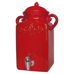 Tuscan Beverage Dispenser in Red