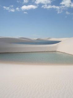 Lençóis Maranhenses -  one of the most marvelous and unique places in the world. An area encompassing about 1000 km² of white silky sand dunes intercepted at regular intervals by endless cool oases of turquoise lakes of fresh rain waters that collects in the valleys.