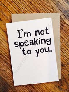Card #247:  Not speaking ...