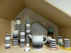 New porcelain designs in graphic black and white at Ferm Living for fall 2013