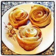 Mes petites roses feuilletées aux pommes... Un petit dessert tout en délicatesse ! - Le blog de cuisineetcitations-leblog