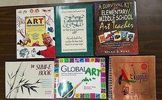 Classroom Art Instruction Lot of 6 Books