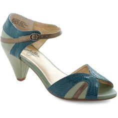 Seychelles At First Sight Heel in Teal ($90) found on Polyvore