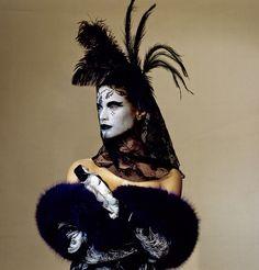 Irving Penn Vogue 1997.  Makeup by Pat McGrath.