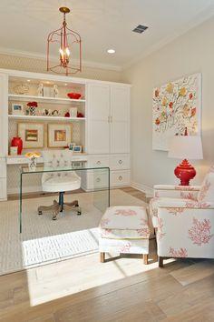 Home Office. Home Office Cabinet. Home Office Lucite Desk. Home Office Ideas. Home Office Design. Home Office Space, Home Office Design, Home Office Furniture, Home Office Decor, House Design, Home Decor, Office Ideas, Office Designs, Office Spaces