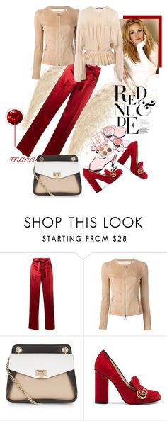 """""""More red & nude..."""" by marastyle ❤ liked on Polyvore featuring Helmut Lang, Drome, Gucci and Givenchy"""