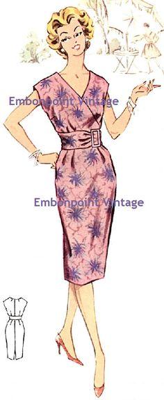 Plus Size (or any size) Vintage 1950s Dress Pattern - PDF - Pattern No 73 Maria. $8.50, via Etsy.