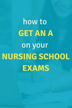 How To (Seriously) Get an A on Your Nursing School Exams - Part 1. Learn from my mistakes and start nursing school studying the RIGHT way! Click through to find out how!