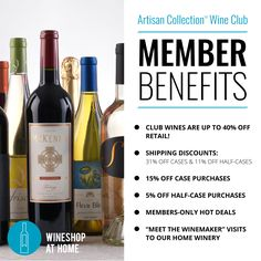 Snag some amazing Member benefits when you join the Artisan Collection™ Wine Club . Ask me for more details! https://multibra.in/pc4wp