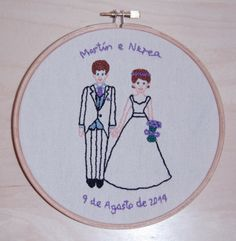 Wedding embroidery frame by Susie creativa