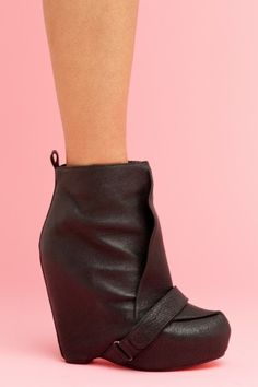 want.. no, need. #black #wedge shoes $228.00