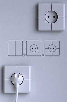 Very innovative electrical accessories that help you avoid wire mess and surprise friends! Wall Plug, Electrical Outlets, Magazine Design, Plugs, Innovation, House Design, Cool Stuff, Interior, Inspiration