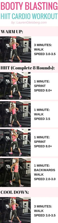 Effective Cardio Workouts In Only 20 Minutes. The perfect exercise regimen is one that combines strength training and some type of cardio. The problem is, many people hate doing cardio and will compris Cardio Abs, Treadmill Workouts, Tabata, Fitness Diet, Health Fitness, Health Diet, Cardio Fitness, Lauren Gleisberg, Hitt Workout