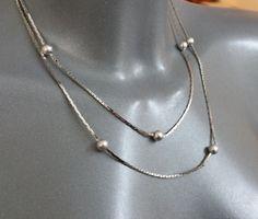 Kette Silber 835 Halskette mit Silberkugeln SK989 von Schmuckbaron