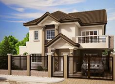 Planning to build your own house? Check out the photos of these beautiful 2 storey houses.This article is filed under: Small Cottage Designs, Small Home Design, Small House Design Plans, Small House Design Inside, Small House Architecture Two Story House Design, 2 Storey House Design, Small House Design, Modern House Design, Modern Houses, House Paint Exterior, Dream House Exterior, Exterior Design, Villa Design
