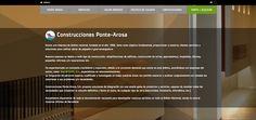 Web de la empresa constructora Ponte-Arosa.