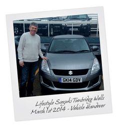 Suzuki Swift Vehicle Handover at Tunbridge Wells Suzuki in Kent