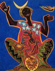 """""""Nigeria, the Healer"""" by Betty LaDuke"""