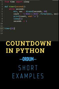 Countdown in Python - Software Development Countdown in Python - Computer Humor, Computer Technology, Computer Science, Learn Computer Coding, Computer Programming Languages, Arduino Programming, Linux, Programming Tutorial, Python Programming