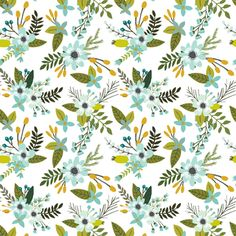 Shop Mermaid Sprigs and Blooms fabric by IvieClothCo at WeaveUp - custom fabric