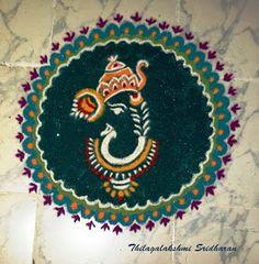 Rangoli and Art Works: GANESHA RANGOLI