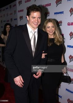 Brendan Fraser and Afton Smith during The 60th Annual Golden Globe Awards - Miramax After-Party - Arrivals at Trader Vic's in Beverly Hills, California, United States.