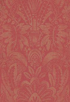 Havana Red (ZPEW02002) - Zoffany Wallpapers - A traditional, elegant design of 'floral and fruit' damasks in a subtle golden metallic shimmer on a beautiful claret background of mottled red. Paste-The-Wall. Additional colourways also available. Please request sample for true colour match.