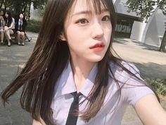 Beauty anything - You look so cute. School Girl Fancy Dress, School Girl Outfit, Cute Korean Girl, Asian Girl, Korean Beauty, Asian Beauty, Korean Student, Uzzlang Girl, Real Model