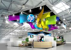 Exhibition stand HP by Nick Sochilin, via Behance