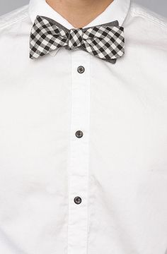 The Connor Reversible Bow Tie in Black by CottonTreats