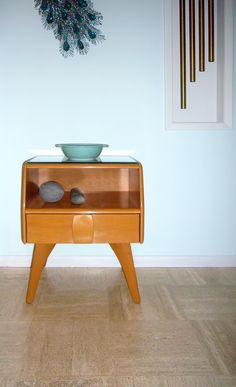Heywood-Wakefield Kohinoor night stand, 1949 It doesn't match my current one, but matching is overrated!
