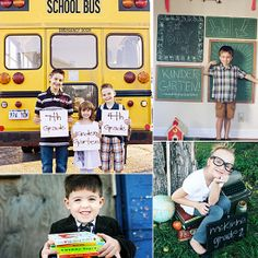Shutterbug: 19 Must-Take Back-to-School Pictures It's coming! Back-to-school season is in full swing, and both moms and tots are getting ready for the big day.  Check out these creative ideas to make your back-to-school photo session a memorable one.