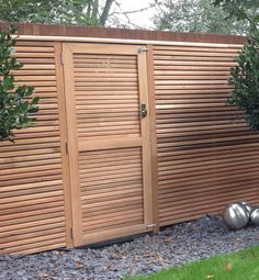 Western Red Cedar Slatted Gate height x width . Our Cedar slatted gates are the perfect compliment for our fencing. Our gates are supplied . Slatted Fence Panels, Contemporary Fencing, Fence Gate, Fences, Wooden Gates, Western Red Cedar, Fence Design, Garden Ideas, Patio