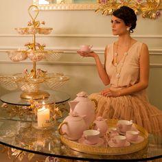 #Villari #Boutique #Kiev #Ukraine Shopping Mall #Domosfera - 1st floor, 101 Stolichnoe Highway Tel. 0038 44 259 3110 #luxury #lifestyle #tea #teacup #teatime #pink #rose #flower #decoration #artistic #madeinitaly #handpainted #handmade
