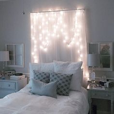 Check out this lovely alternative to a headboard! It makes this bedroom seem so cozy! Get a closer look at this unique idea by previewing this great home, which is new to the market! Call The McCaughan Company today to find out more 601-825-2698 #mccaughanclients #realtor #homesforsale #bedroom #uniqueideas #installation #lights