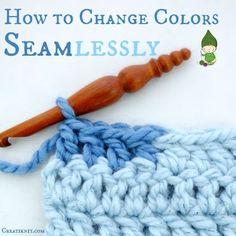 How To Change Colors Seamlessly Crochet Tutorial - (creatiknit) ༺✿ƬⱤღ http://www.pinterest.com/teretegui/✿༻