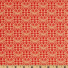 Pagoda Lullaby Gateway Grenadine Orange - Discount Designer Fabric - Fabric.com
