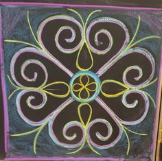 love it when a form grows through the days.(made by Madelief) Blackboard Drawing, Chalkboard Drawings, Chalkboard Art, Form Drawing, Simple Rangoli, Shape And Form, Chalk Art, 5th Grades, Fourth Grade