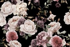 Create a beautiful, elegant space in your home with our beautiful Purple and Pink Dark Floral Wall Mural. This design creates a vintage look with its large rose illustrations which are toned and saturated in color for a sophisticated feel. If you have your heart set on a dark wallpaper for a room in your home,...  Read more »