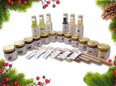 1 Adventskalender (Senf, Öl, Essig, Salz, Aufstrich, Honig...) vom Bauernhof Advent Calendar, Place Cards, Place Card Holders, Holiday Decor, Vinegar, Mustard, Spreads