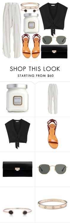 """""""Untitled #1125"""" by m-asquerade ❤ liked on Polyvore featuring Laura Mercier, Faithfull, Alice + Olivia, Valentino, Balenciaga, Ray-Ban, Anne Sisteron and Cartier"""